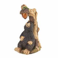 "Buy *16220U - Black Bear Light Up Acorn 9.75"" Solar Garden Statue Yard Art"