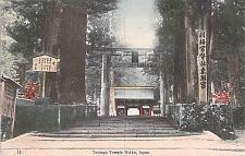 Buy Toshogu Temple Nikko, Japan Hand Tinted Color Vintage Japanese Postcard