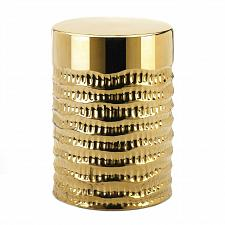 Buy *18754U - Gold Textured Stool Decorative Side Table