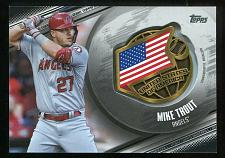 Buy 2020 TOPPS GLOBAL GAME MEDALLION BLACK MIKE TROUT, GGM-MT, 35/149