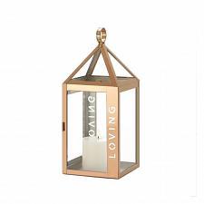 """Buy *18528U - Rose Gold Metal Frame LOVING Stencil Cut 13.8"""" Pillar Candle Lantern"""