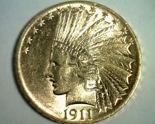 Buy 1911 TEN DOLLAR INDIAN HEAD GOLD CHOICE ABOUT UNCIRCULATED+ CH AU+ NICE COIN