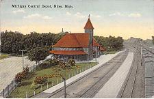 Buy Michigan Central Depot, Niles, Mich. Railroad Vintage Postcard