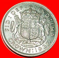 Buy ★COAT OF ARMS: GREAT BRITAIN★ CROWN 1937 SILVER! LOW START★NO RESERVE!