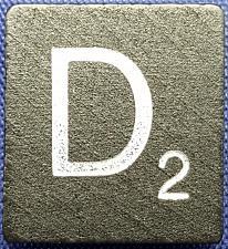 Buy Scrabble Tiles Replacement Letter D Black Wooden Craft Game Piece Diamond Ann.