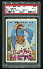 Buy 2016 TOPPS HERITAGE REAL ONE RED AUTO BILL HEPLER PSA 9 MINT (25696609)