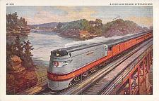 Buy Chicago Bound Streamliner, Chicago Railroad Hub Vintage Postcard