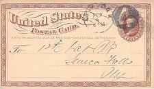 Buy 1874 UX3 New York Negative 4 Fancy Cancel US Postal Card
