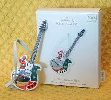 Buy 2010 Hallmark Run Rudolph Run Guitar Magic Sound Christmas Ornament W/Box!