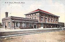 Buy Northern Pacific Depot, Missoula, Montana Vintage Postcard