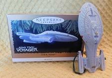 Buy Hallmark Keepsake Magic Star Trek USS Voyager Christmas Ornament Lights Up 1996
