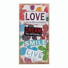 Buy *17953U - Love Dream Smile Live Sticker Print Canvas Wall Art