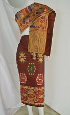Buy Brown Lao Laos Synthetic Silk sinh Skirt Clothing Pha Bieng Custms your size
