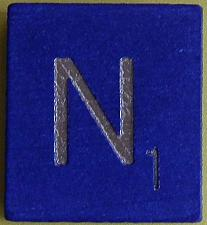 Buy Scrabble Tiles Replacement Letter N Blue Wooden Craft Game Part Piece 50th Ann.