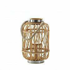 "Buy *16941U - Medium 12-5/8"" Woven Rattan w/Hurricane Glass Candle Lantern"
