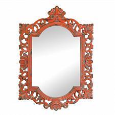 Buy *17103U - Vintage Emily Coral Distressed Wall Mirror