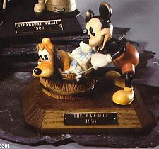 Buy Disney Mad Dog Mickey & Pluto Anri Wood Carving Limited Edition Italy