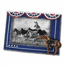Buy *18885U - Patriotic Flag Horse Figure Photo Picture Frame