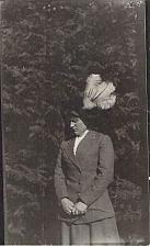 Buy Unknown Woman in Fancy Hat 1930's Era Real Photo RPPC Unused Postcard