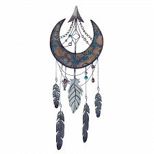 Buy *18376U - Crescent Moon Dreamcatcher Iron Wall Decoration