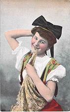 Buy Young German Girl in Native Costume Unused Postcard