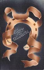 Buy Every Good Wish Horseshoe Vintage Postcard