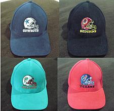 Buy NFL FOOTBALL HATS COWBOYS, REDSKINS, DOLPHINS, TEXANS (NEW PRE-OWNED) ADJUSTABLE