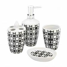 Buy *18750U - Geometric Pattern Bath Accessory 4pc Set