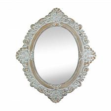 Buy *17104U - Vintage Amelia Ivory Taupe Wood Oval Wall Mirror