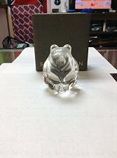 "Buy STEUBEN CRYSTAL LTD. EDITION ""BEAR"" FIGURAL HAND COOLER, SIGNED Used w/ box"
