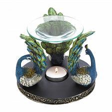Buy *17518U - Peacock Figure Trio Fanning Plumes Oil Warmer