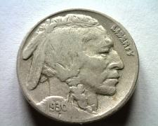 Buy 1930 BUFFALO NICKEL TILTED 0 IN DATE WITH SMALL OPENING FINE F ORIGINAL COIN