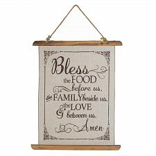 Buy *18386U - Bless The Food Linen Wall Art