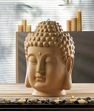 Buy *17062U - Calming Peaceful Ceramic Buddha Head Tranquility Water Fountain