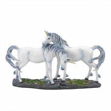 Buy *18847U - Two White Unicorn Lovers Mythical Figurine