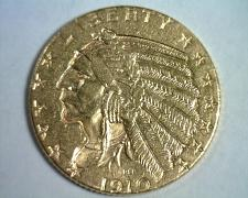 Buy 1910 FIVE DOLLAR INDIAN HEAD GOLD CHOICE ABOUT UNCIRCULATED CH AU NICE ORIGINAL