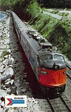 Buy Amtrak's Modern Train Coast Starlight Seattle to LA. Railroad Postcard
