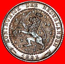 Buy ★RAMPANT LION: NETHERLANDS ★ 1 CENT 1883! MINT LUSTER! LOW START★NO RESERVE!