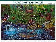 Buy 2000 33c Pacific Coast Rain Forest, Sheet of 10 Scott 3378 Mint F/VF NH