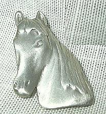 Buy Pewter Horse Head Tie Tac Lapel Pin Brooch Equestrian j37