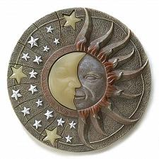 "Buy 39697U - Celestial Sun Moon Glow In Dark 10"" Resin Garden Stepping Stone"