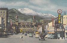 Buy Pike's Peak Avenue, Colorado Springs, Colo Unused Vintage Postcard