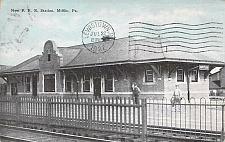 Buy New Pennsylvania Railroad Station, Mifflin, PA Vintage Postcard