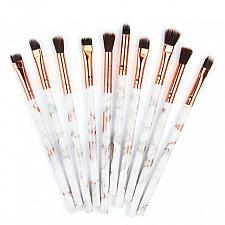 Buy 10Pcs Makeup Brush Concealer Eyeshadow Brush Set fiber soft smooth Brush Makeup