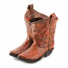 Buy *15279U - Western Cowboy Boots Planter Plant Pot