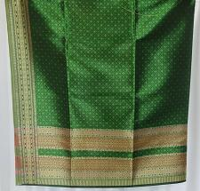 Buy Thai Tradition Green Synthetic Silk Fabric For Top Skirt Wedding dress C18