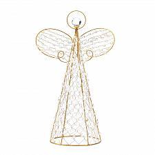 Buy *15359U - Beaded Wire Frame Angel Tabletop Christmas Decor