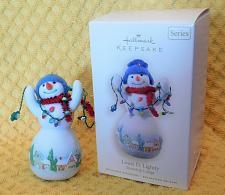 Buy Hallmark Louie D Lightly Christmas Ornament Snowtop Lodge Series Snowman 2008