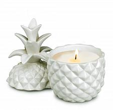 Buy :10876U - White Ceramic Pineapple Shape Lidded Scented Candle Cup