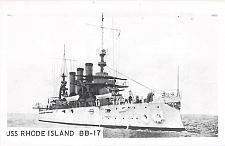 Buy U.S. Navy Real Photo Battleship Rhode Island Viintage Ships Unused Postcard